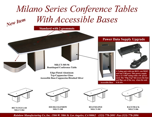 Conference Room Tables With Power And Data Module Ports - Conference table with data ports and power