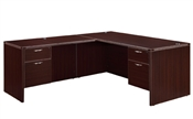 "DMI Fairplex 7004-2728EQ RIGHT / LEFT JUNIOR EXECUTIVE ""L"" DESK WITH 3/4 PEDS"