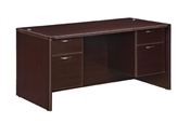 DMI Fairplex 7004-30Q JUNIOR EXECUTIVE DESK WITH 3/4 PEDS