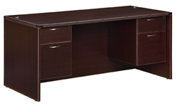 DMI Fairplex 7004-31Q EXECUTIVE DESK WITH 3/4 PEDS
