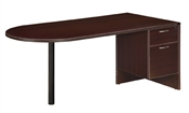 DMI Fairplex 7004-30Q JUNIOR EXECUTIVE DESK WITH 3/4 PEDS by Office Furniture Outlet are on sale at discount prices.