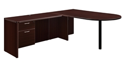 "DMI Fairplex 7004-4546Q RIGHT / LEFT BULLET ""L"" DESK WITH 3/4 PED"