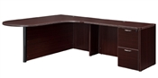 "DMI Fairplex 7004-45ECP RIGHT EXECUTIVE CORNER PENINSULA / BULLET ""L"" DESK"