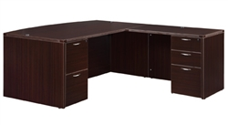 "DMI Fairplex 7004-4748B RIGHT / LEFT BOW FRONT ""L"" DESK"