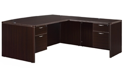 "DMI Fairplex 7004-4748BQ RIGHT / LEFT BOW FRONT ""L"" DESK WITH 3/4 PEDS"