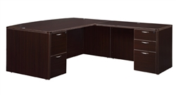 "DMI Fairplex 7004-4748EB RIGHT / LEFT EXECUTIVE BOW FRONT ""L"" DESK"