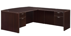 "DMI Fairplex 7004-4748EBQ RIGHT / LEFT EXECUTIVE BOW FRONT ""L"" DESK WITH 3/4 PEDS"