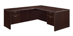"DMI Fairplex 7004-4748EQ RIGHT / LEFT EXECUTIVE ""L"" DESK WITH 3/4 PEDS"