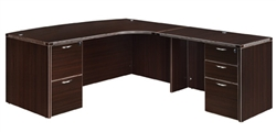 "DMI Fairplex 7004-47CB RIGHT CORNER BOW FRONT ""L"" DESK"