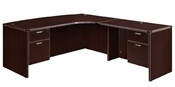 "DMI Fairplex 7004-47CBQ RIGHT CORNER BOW FRONT ""L"" DESK WITH 3/4 PEDS"
