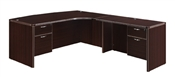 "DMI Fairplex 7004-47ECBQ RIGHT EXECUTIVE CORNER BOW FRONT ""L"" DESK WITH 3/4 PEDS"