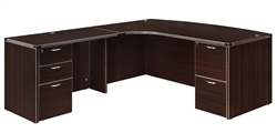 "DMI Fairplex 7004-48CB LEFT CORNER BOW FRONT ""L"" DESK"