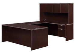 "DMI Fairplex 7004-5758EQ RIGHT / LEFT EXECUTIVE ""U"" DESK WITH 3/4 PEDS"
