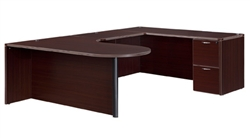 "DMI Fairplex 7004-647CP RIGHT EXECUTIVE CORNER PENINSULA / BULLET ""U"" DESK"