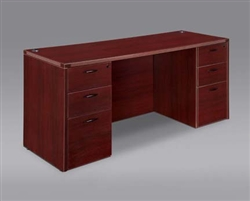 DMI Fairplex 7006-21 EXECUTIVE KNEEHOLE CREDENZA