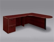 "DMI Fairplex 7006-45ECP RIGHT EXECUTIVE CORNER PENINSULA / BULLET ""L"" DESK"
