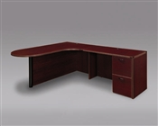 "DMI Fairplex 7006-46ECP LEFT EXECUTIVE CORNER PENINSULA / BULLET ""L"" DESK"