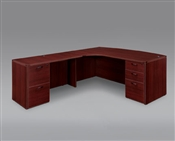 "DMI Fairplex 7006-47ECB RIGHT EXECUTIVE CORNER BOW FRONT ""L"" DESK"