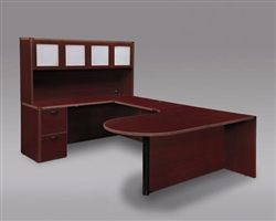 "DMI Fairplex 7006-648CP LEFT EXECUTIVE CORNER PENINSULA / BULLET ""U"" DESK"