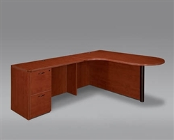 "DMI Fairplex 46ECP LEFT EXECUTIVE CORNER PENINSULA / BULLET ""L"" DESK"