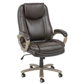 OFM Essentials Big & Tall Leather Executive Chair ESS-201-BRN