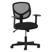 OFM Essentials Swivel Mesh Task Chair with Arms ESS-3001