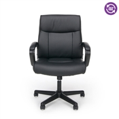 OFM Essentials Leather Executive Office Chair with Arms ESS-6010
