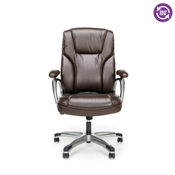 OFM Essentials Ergonomic High-Back Leather Executive Office Chair ESS-6030