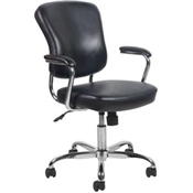 OFM Essentials Swivel Leather Office Chair with Padded Arms  ESS-6080