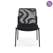 OFM Essentials Mesh Upholstered Stacking Armless Side Chair ESS-8000