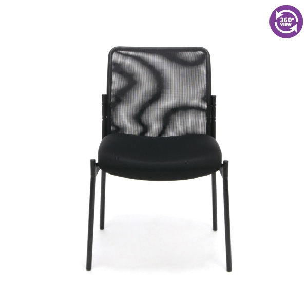 OFM Essentials Mesh Upholstered Stacking Armless Side Chair ESS 8000