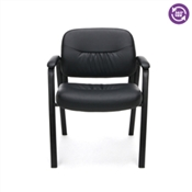 OFM Essentials Leather Executive Side Chair with Padded Arms ESS-9010