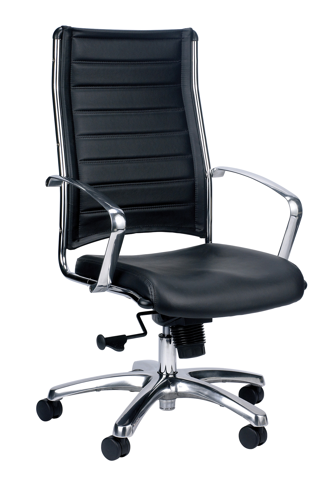 Eurotech Europa leather high back chair Black