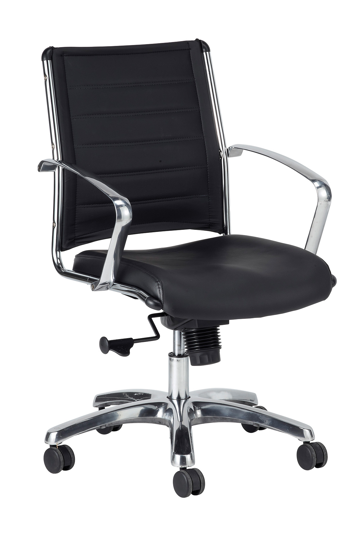 Eurotech Europa leather mid back chair Black