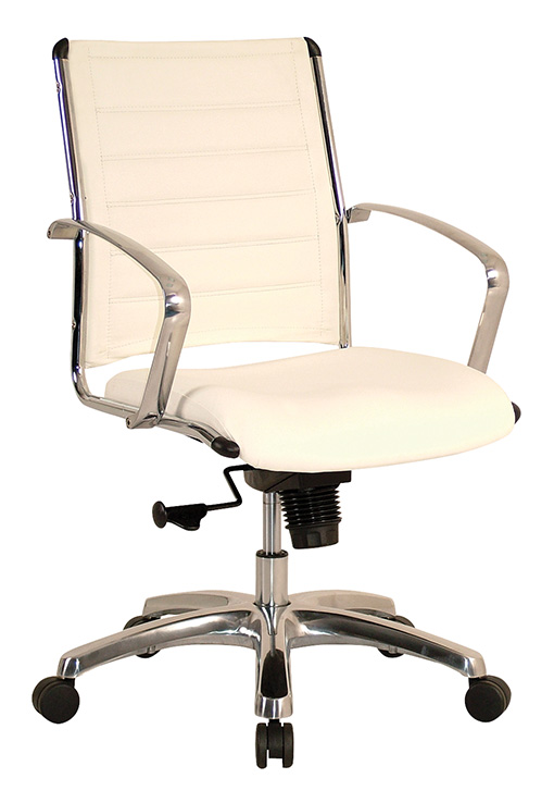 Eurotech Europa leather mid back chair White
