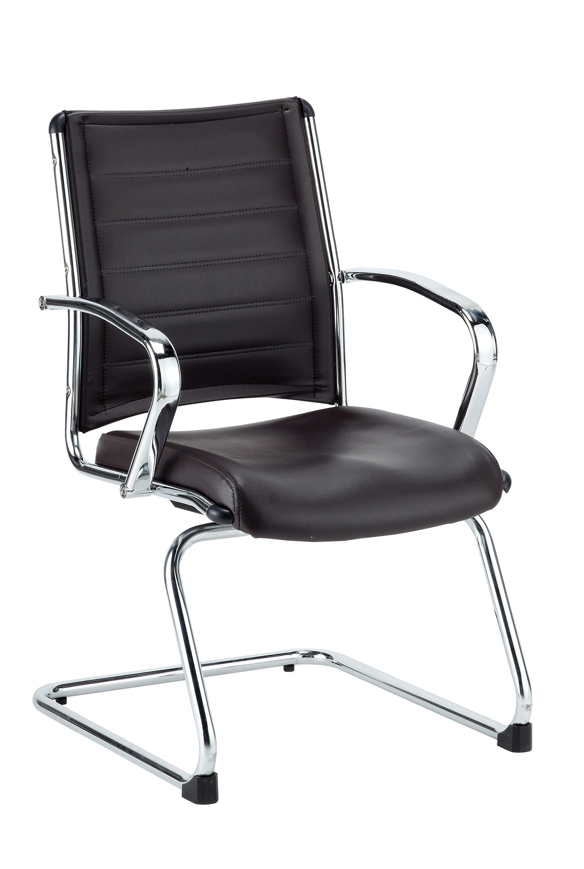 Eurotech Europa leather Guest Chair Black