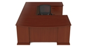 Cherryman Emerald U Shaped Bowfront Desk w/ Lateral File