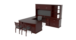 Cherryman Emerald Executive Desk Set (as shown)
