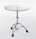 Drum Table w/ Glass Top