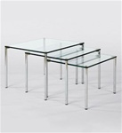 Noviana 21415A+G Glass Table (set)
