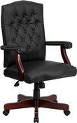 Martha Washington Black Leather Executive Swivel Chair by Flash Furniture