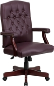 Martha Washington Burgundy Leather Executive Swivel Chair by Flash Furniture