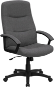 Gray Fabric Upholstered High Back Executive Swivel Office Chair by Flash Furniture