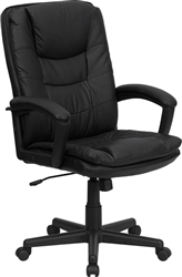 Executive Leather High Back Office Chair by Flash Furniture BT-2921-BK-GG