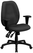 High Back Gray Fabric Multi-Functional Ergonomic Task Chair by Flash Furniture