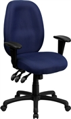 High Back Navy Fabric Multi-Functional Ergonomic Task Chair by Flash Furniture