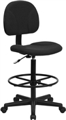 Black Patterned Fabric Ergonomic Multi Function Drafting Stool by Flash Furniture BT-659-BLK-GG