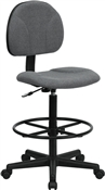 Gray Fabric Ergonomic Multi Function Drafting Stool by Flash Furniture BT-659-GRY-GG