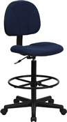 Navy Fabric Ergonomic Multi Function Drafting Stool by Flash Furniture BT-659-NVY-GG