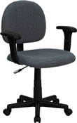 Mid-Back Ergonomic Gray Fabric Task Chair with Adjustable Arms by Flash Furniture